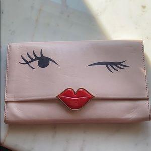 Pink Kate Spade clutch
